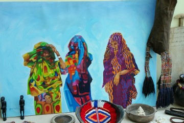 Traditional Sudanese art and home decor.