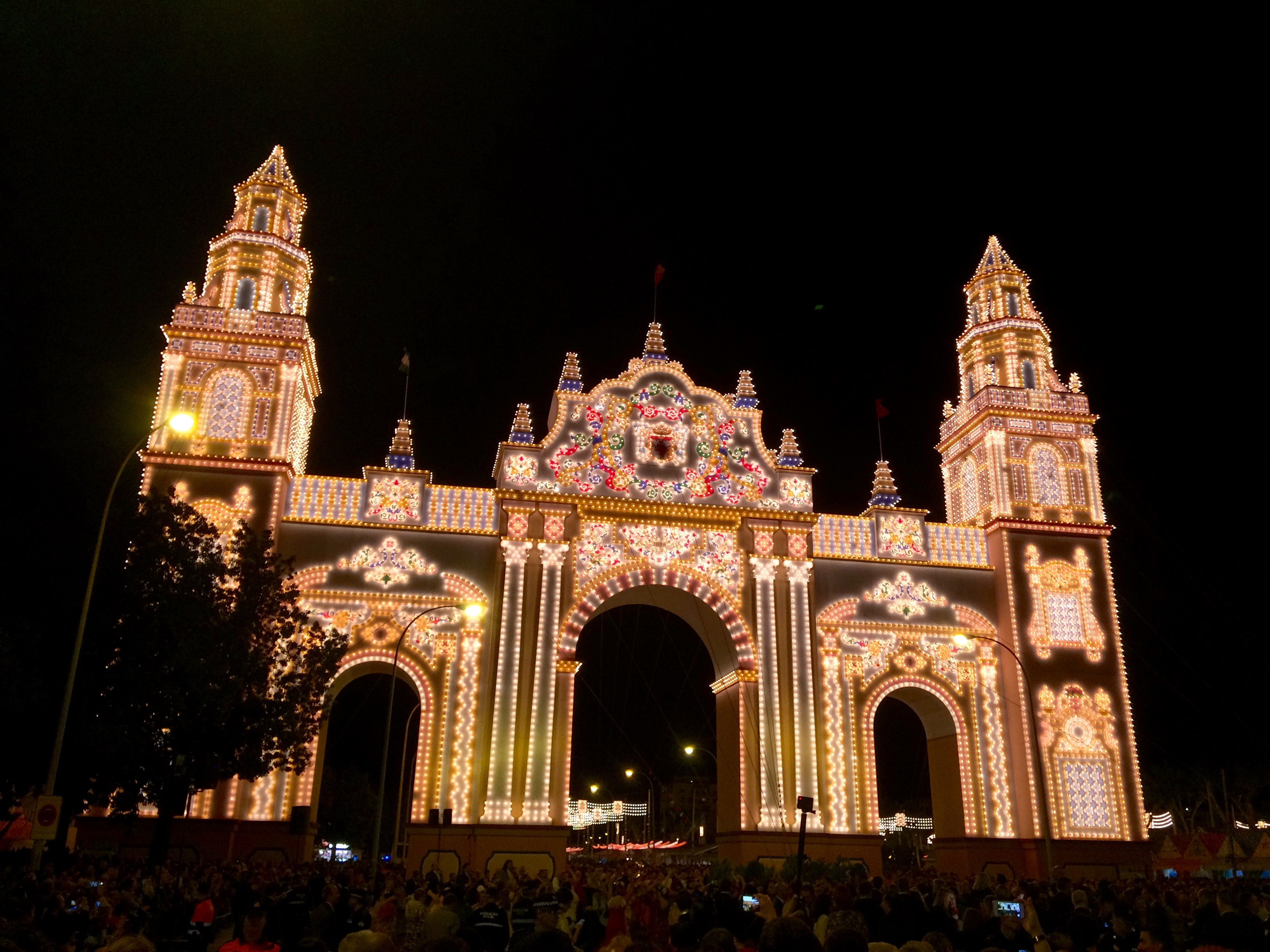 """La Portada,"" or the main entrance to La Feria."