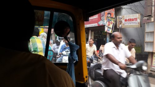 Just a glimpse of traffic I had while I was in an auto rickshaw.