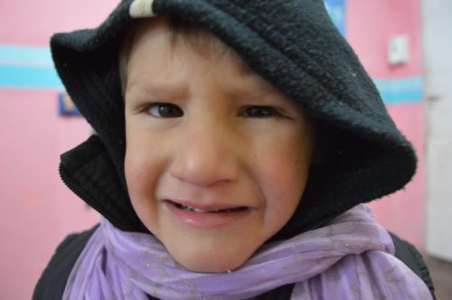 Despite the facial expression, Joaquin loved the camera.